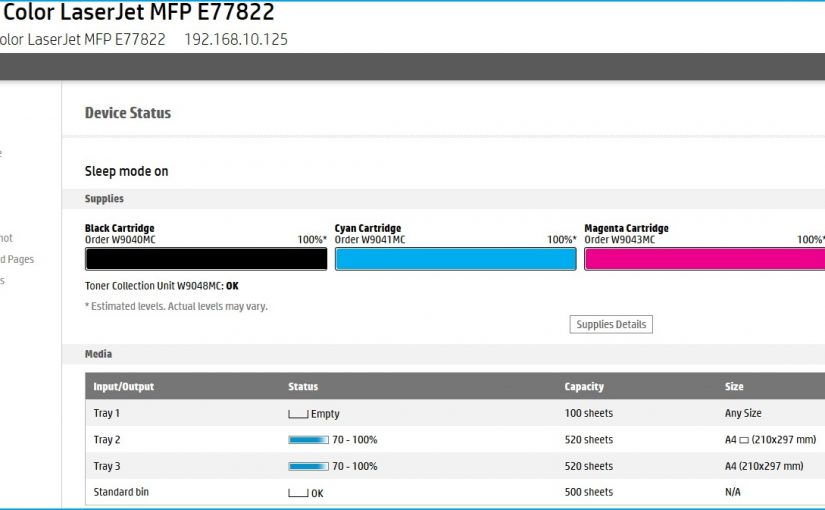 HP Embedded Web Server