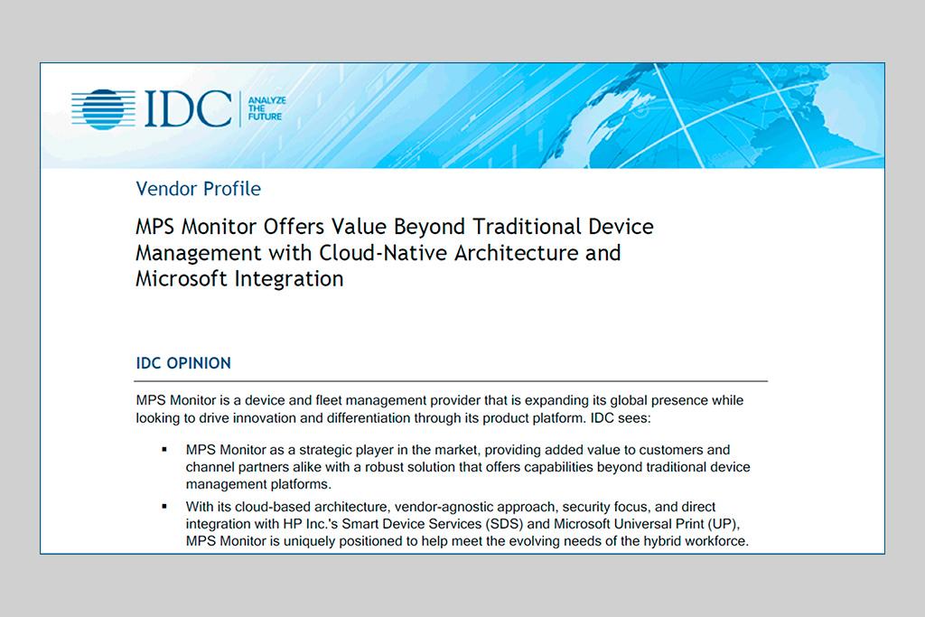 Analisi di IDC su Mps Monitor